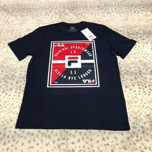 Fila Vincenzo Tee Shirt Short Sleeve Crew Neck